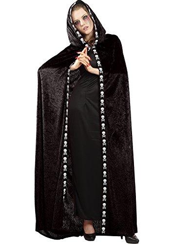 Ciao Umhang Domino Erwachsene in Samt Schwarz (Domino's Kostüm)
