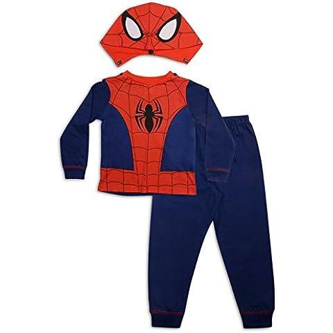 Bambini Ragazzi Costume Travestimento Play Costumi / Pigiami Pigiameria Di Pj Pjs Set Buzz Lightyear Superman Spiderman Addobbi Festa Pipistrelli Batman misura UK 1-8 Anni - Spider Man Gift Set