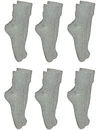 **Great Value** Ladies 6pk Grey Soft Top Socks