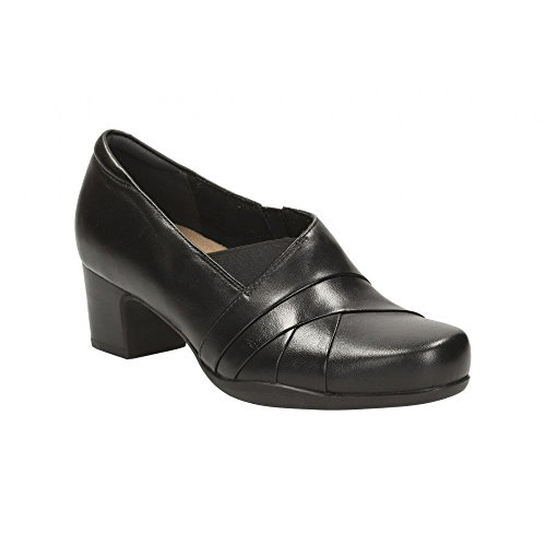 Clarks Rosalyn Adele Vasta Womens Scarpe Astute Black Leather
