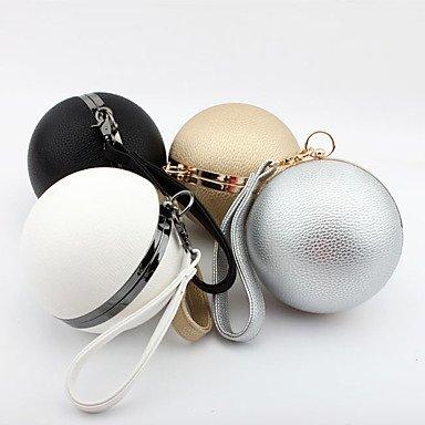 SUNNY KEY-Pochette e Clutch@PU (Poliuretano) Poliestere A scatto Oro Bianco Nero Argento , silver silver