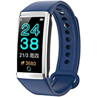 """ATEU TD19 Smart Bracelet Fitness Tracker 1.14"""" Screen IP67 Waterproof Smart Band Clock Heart Rate Monitor Smart Watch Blood Pressure Pedometer for Android iOS"""