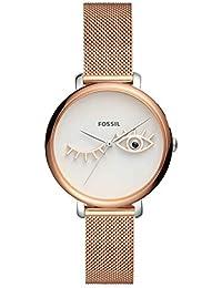 fc7931a7a171 Fossil Reloj Analógico para Mujer de Cuarzo con Correa en Acero Inoxidable  ES4414