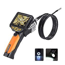 Depstech 3,5-Zoll-QVGA-LCD Digital Wasserdichte Endoskop 8,2 mm Durchmesser Boreskop Video-Endoskop 9.84 ft/ 3M Kabel