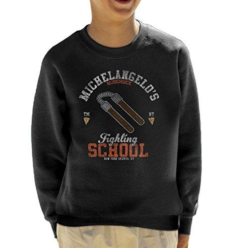 Michelangelo Nunchuck School Teenage Mutant Ninja Turtles Kid's Sweatshirt