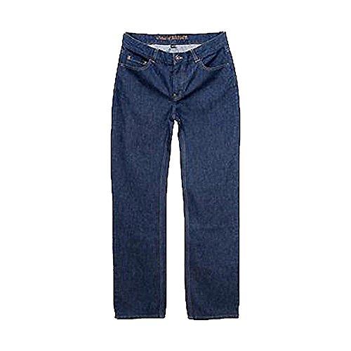 Living Crafts Herren Jeans aus reiner Bio-Baumwolle Indigo