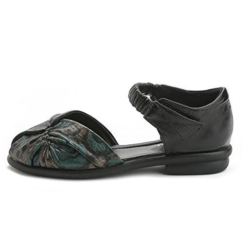 L@YC® Donne / sandali / pizzi in pizzo / scarpe da carriera da ufficio banchetto basso a tacco basso con tacco basso / nero Black