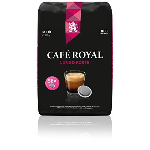 Café Royal Lungo Forte 56 kompatible Kaffeepads für Senseo ®*, Intensität 8/10, 1er Pack (1 x 56 Kaffee-Pads)