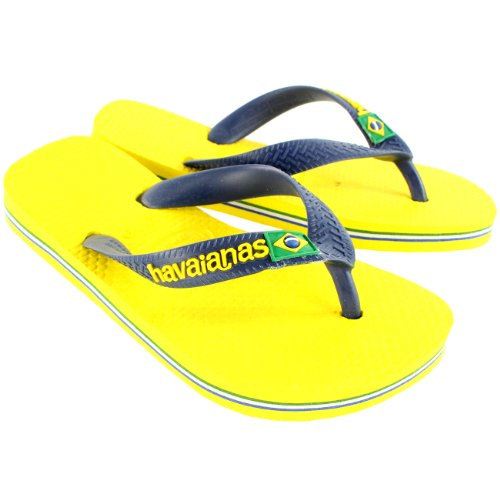 Unisex Bambini Havaianas Logo Slip Su Estate Spiaggia Sandalo Infradito Citrus Giallo