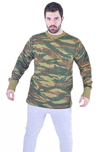 Camuflaje de los Hombres Camuflaje Army Manga Larga Camiseta Top Shooting Hunting 8-14 (M, Gr�ne Camouflage)