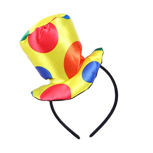YeahiBaby Jester Stirnband Clown Top Hut Stirnband Karneval Kostüm Performance Requisiten für Erwachsene - Jester Kind Kostüm