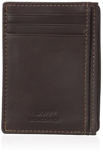 DOPP Unisex Leather Front Getaway Pocket Wallet, Brown (Herren Dopp Geldbörse)