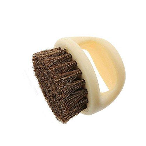 Generic Tragbarer New Natürliche Borsten Pferd Haar Schuh Glanz Polish Puderpinsel Kunststoff Pinsel für Home Reinigung Hare Polish