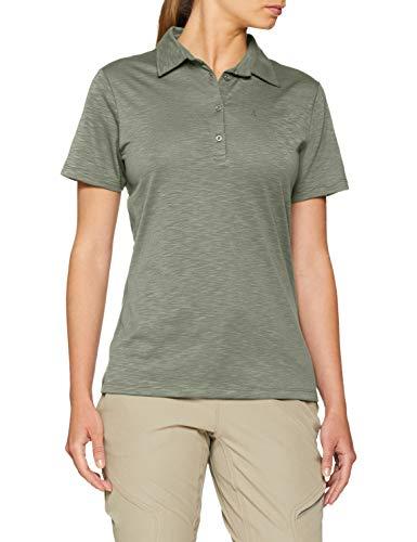 Schöffel Damen Polo Capri1 Shirt, grün (sea spray), 46 -