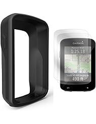 TUSITA Silikon Case + Display Schutz Hülle Cover für Garmin Edge 820 / Edge 820 Explore