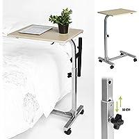 Aingoo Computertisch Schreibtich Pflegetisch Bettisch Frühstückstisch Höhenverstellbar 48 x 37 x 67-79cm Tisch in Beige