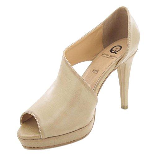 Toocool - Femme Chaussures Décollez? Décolleté À Bout Ouvert Élégant Nouveau Queen Helena Zm25182 Beige