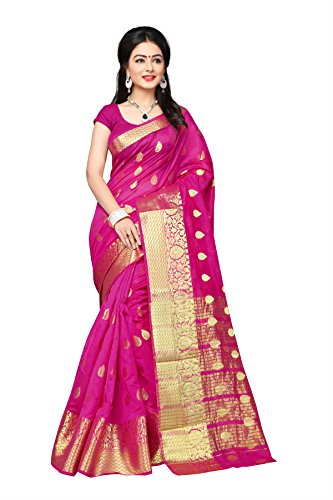 Urban India Women's Banarasi Silk Saree (Purple) - (SE00111129C)