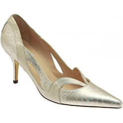 Renata Women's Pointed Toe High Heel Court Shoe 7.5 Silver