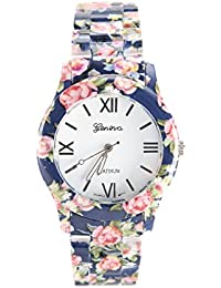 Geneva Roman Style Blue Dail Analogue Watch For Womens