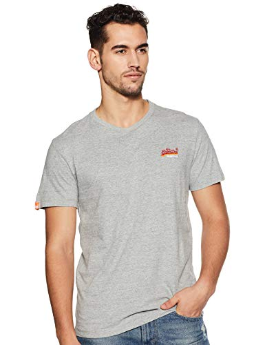 aab6296a61aad Superdry Orange Label Vintage Embroidery S/s tee Camiseta, Gris (Pumice  Stone Marl B3d), Small para Hombre