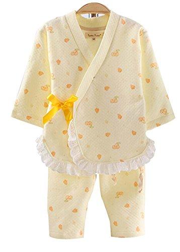 Filles Manches Longues Coton Air Layer Pyjama Kimono Pyjamas pour Enfants Suit