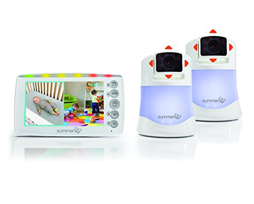 Summer Infant Side By Side 2.0™ - Monitor Digitale a Colori per Bebè con 2 Camere Incluse!