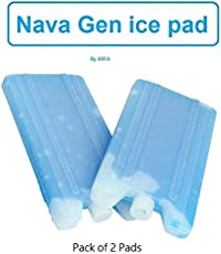 ARFA - Nova FREEZIT ice gel pack for ice message, Sealed & leak proof, Blue gel filled, Contents Non toxic, pack of 2.