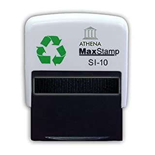 Personalised Custom Made Self Inking Rubber Stamp (Maximum of - 3 lines of Text) 36 x 13mm.