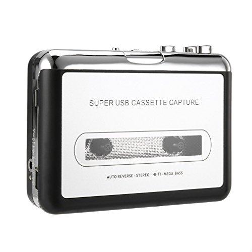 Bemodst® Cinta a PC USB Cassette & MP3 CD Convertidor Captura Digital Audio Reproductor de Música