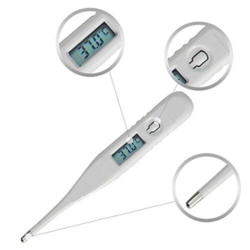 STRIR Termómetro Clínico Digital, Termómetro Oral, Rectal y Axilar, con Lectura Pantalla, Punta Flexible, Precisa Lectura Instantánea para Bebés, Niños y Adultos con FDA y CE
