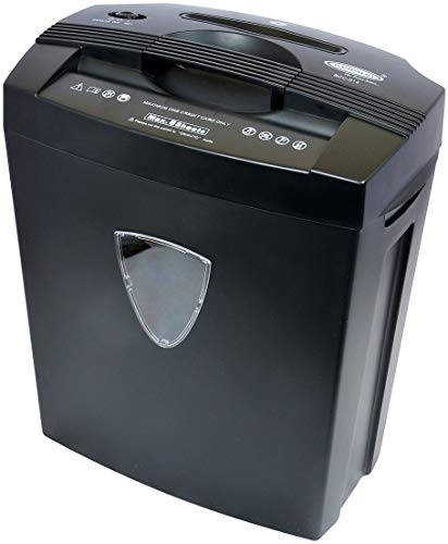 Bambalio BCC-014 Paper/CD/Credit Card Cross Cut Shredder with 8 Sheet Capacity and 18 L Bin