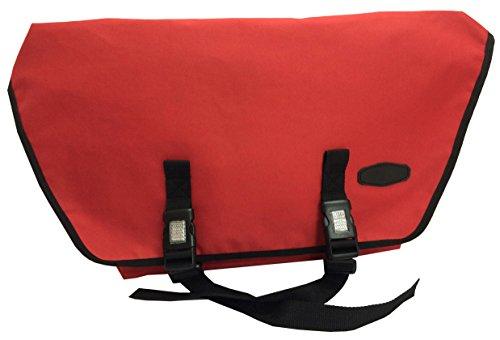 Bikebelle BLACK BULL College-Tasche (Aktentasche Messenger Bag Umhängetasche Schultertasche 62 x 38 x 14 cm), BikeBell:URBAN RED (Cordura-leder-satteltasche)
