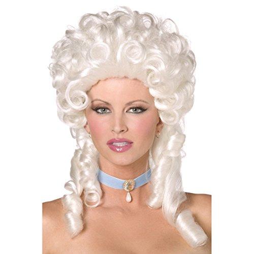 Barock Perücke Rokoko Damenperücke weiß Damenperücke Faschingsperücke Baroness Kostüm Zubehör