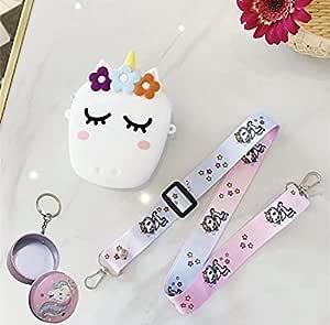Le Delite / Unicorn Sling Bag / Unicorn Sling Bag for Girls /Rainbow Magic Silicon Sling Bag Kids/Cute Mini Purse for Kids Girls/Unicorn Compact Tin case/ Coin Pouch