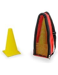 20 Conos de señalización – con bolsa de transporte – amarillo
