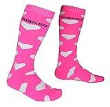 Dame Hochleistungswärme Skifahren Socken Frottierboden Verdickung Rutschfest Lange Röhre Warm halten Bergsteigen Reiten Socken , pink heart , 36-40