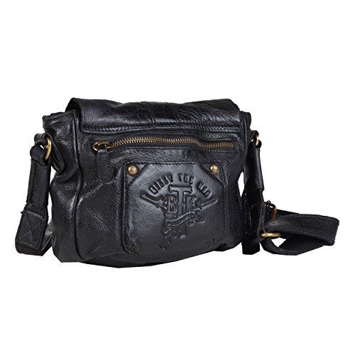 Billy the Kid Daytona borsa a tracolla pelle 23 cm Black
