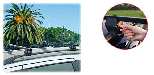 Sicherer und schnell zu montierender Stahl Dachträger 90311062 für Volkswagen (VW) Touran mit normaler ( hochstehender) Dachreling - TÜV Geprüft