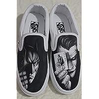 b772436818d809 Batman Shoes Hand Painted Custom Shoes Batman VS Joker Vans Handpainted Batman  Shoes Hand Painted Canvas