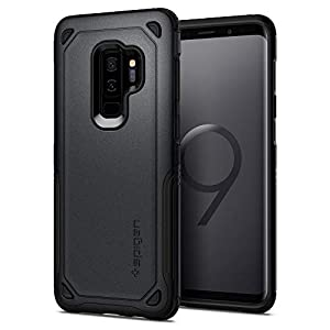 Spigen 593CS22931 - Coque pour Samsung Galaxy S9 Plus - Protection Extrème avec Air Cushion [Hybrid Armor] - Gris (Graphite Gray)