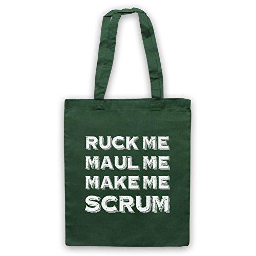 Ruck Me Maul Me Make Me mischia Rugby borsa custodia Verde scuro