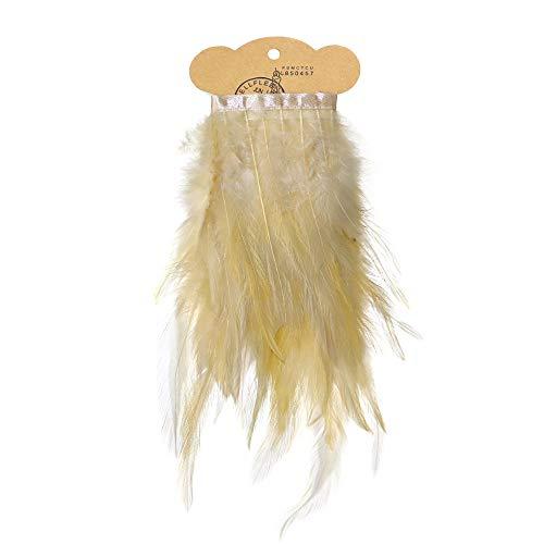 Kostüm Sahne - Ruby - Federn Band ideal als Dekoration zum karnival für Halloween, fest Masken, kostüme und basteln für Kinder, sicher und ungiftig (Sahne)