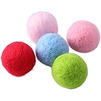 UEETEK 5 UNIDS Pompones de Colores de Lana para Manualidad DIY Decoraciones de Artesanía 4 cm