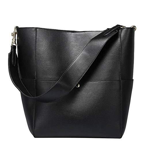 Aus Echtem Leder Eimer Handtasche (WZRDD Neue Große Einkaufstasche Für Frauen Echtes Echtes Leder Eimer Handtaschen Weibliche Berühmte Marken Damen Schulter Braun Tasche Designer)