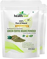 Healthreef Green Coffee Beans Powder For Weight Loss - 225 Gm (Pack of 2)
