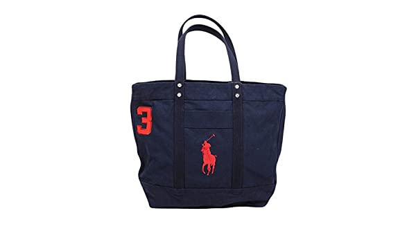 f36c88dc92d2 Polo Ralph Lauren Big Pony Zip Canvas Tote-Aviator Navy  Amazon.co.uk   Luggage