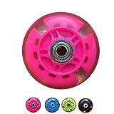 Lorsoul 2ST PU Skating Beleuchtung-Blinkende Rad Kinder Skates Roller Kinder-Fahrrad-Roller Speed Wheel Ersatz