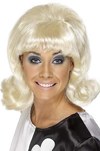 (Smiffys, Damen 60er Jahre Flick-Up Perücke, One Size, Blond, 42014)