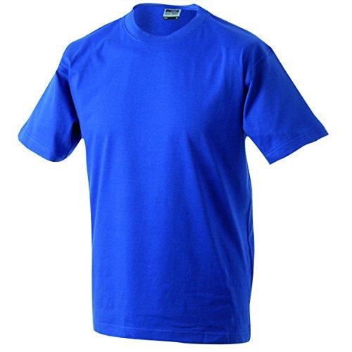 JAMES & NICHOLSON Herren T-Shirt, Einfarbig Blau - Bleu Royal Foncé